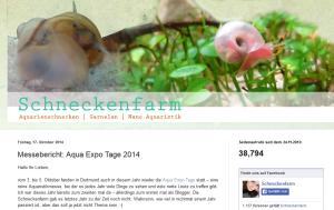 Die Schneckenfarm über die aqua EXPO Tage 2014