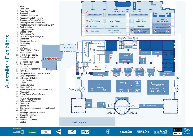 Hallenplan der aqua EXPO Tage 2019