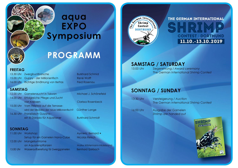 Programm der aqua EXPO Tage 2019